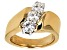 Moissanite Fire(R)  14k Yellow Gold Over Sterling Silver 3-Stone Ring 1.00ctw DEW
