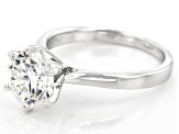 Moissanite Fire® 2.70ct Diamond Equivalent Weight Round Platineve™ Solitaire Ring