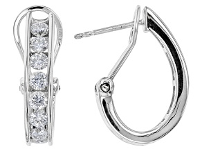 Moissanite Platineve Earrings 1.60ctw D.E.W