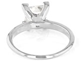 Moissanite 14k White Gold Solitaire Ring 2.10ct DEW