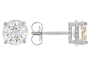 Moissanite Fire® 2.00ctw Diamond Equivalent Weight Round 14k White Gold Stud Earrings