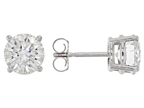 Moissanite Fire® 2.40ctw Diamond Equivalent Weight Round 14k White Gold Stud Earrings