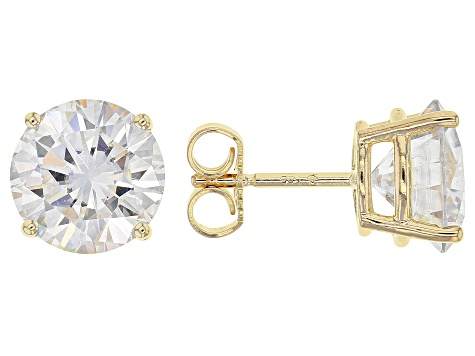 Moissanite 14k Yellow Gold Stud Earrings 5 40ctw Dew