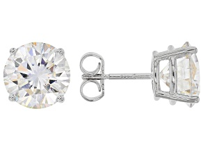 Moissanite 14k White Gold Stud Earrings 5.40ctw DEW.