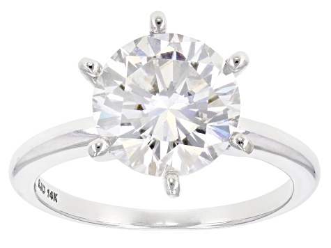 Moissanite 14k White Gold Ring 3 10ct Diamond Equivalent Weight