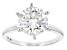 Moissanite 14k White Gold Ring 3.10ct Diamond Equivalent Weight