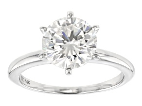 Moissanite Fire® 2.20ctw Diamond Equivalent Weight 14k White Gold Solitaire Ring