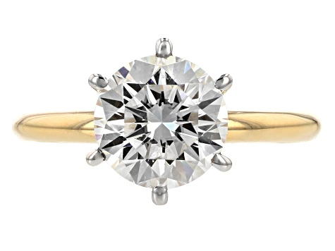 Moissanite Fire® 2.20ctw Diamond Equivalent Weight 14k Yellow Gold Solitaire Ring
