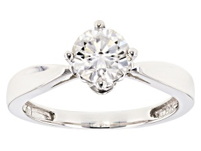 Moissanite 14k White Gold Ring 1.00ct DEW