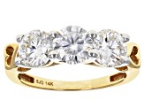 Moissanite 14k Yellow Gold Ring 2.40ctw D.E.W