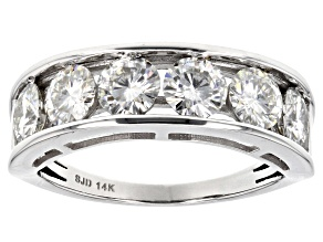 Moissanite 14k White Gold Ring 1.98ctw D.E.W