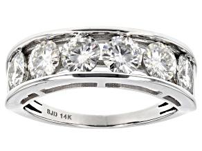 Moissanite 14k White Gold Ring 1.98ctw D.E.W