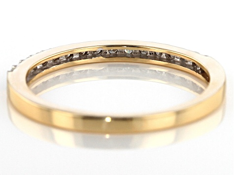 Moissanite 14k Yellow Gold Ring .15ctw DEW
