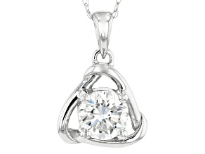Moissanite 14k White Gold Pendant 1.00ct DEW.