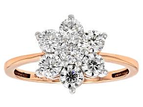 Moissanite Fire® 1.12ctw DEW Round 14k Rose Gold Ring