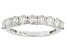 Moissanite 14k White Gold Ring 1.17ctw D.E.W