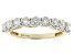 Moissanite 14k Yellow Gold Ring 1.17ctw D.E.W