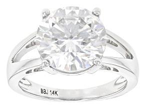 Moissanite 14k White Gold Ring 4.75ct D.E.W