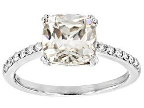 Moissanite 14k White Gold Ring 2.52ctw D.E.W