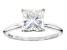 Moissanite Fire® 2.10ct DEW Square Brilliant 14k White Gold Solitaire Ring