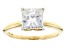 Moissanite Fire® 2.10ct DEW Square Brilliant 14k Yellow Gold Solitaire Ring