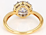 Moissanite 14k yellow gold ring.
