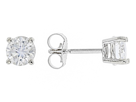 Moissanite 10k White Gold Stud Earrings 1 00ctw Dew