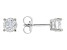 Moissanite 10k White Gold Stud Earrings 1.00ctw DEW.