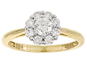 Moissanite 14k Yellow Gold Ring .65ctw DEW