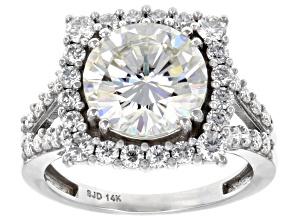 Moissanite 14k White Gold Ring 4.52ctw D.E.W