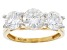 Moissanite 14k Yellow Gold Ring 2.80ctw D.E.W
