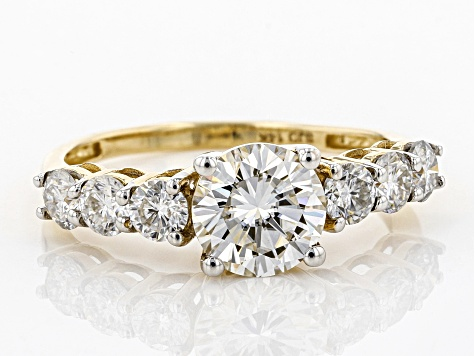 Moissanite 14k Yellow Gold Ring 1.98ctw D.E.W