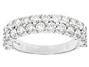 Moissanite 14k White Gold Ring 1.62ctw D.E.W