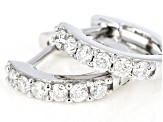 Moissanite 14k White Gold Hoop Earrings .36ctw DEW.