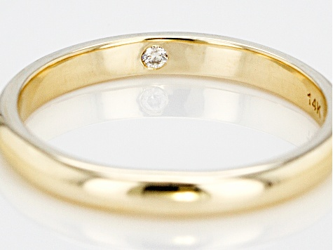 Moissanite 14k Yellow Gold Band .02ct DEW