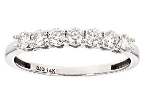 Moissanite 14k white gold ring .42ctw DEW.