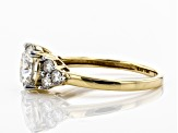 Moissanite 14k Yellow Gold Ring 2.26ctw D.E.W