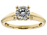 Moissanite 14k Yellow Gold Ring 1.00ct D.E.W