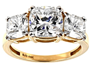 Moissanite 14k Yellow Gold Ring 4.60ctw D.E.W