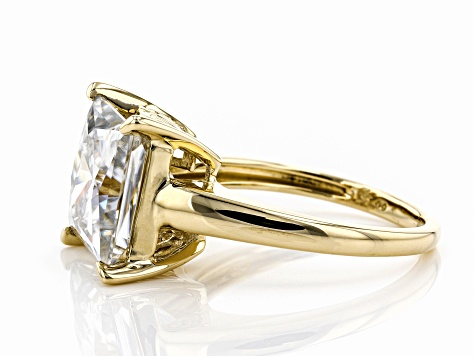 Moissanite 14k Yellow Gold Ring 6.92ct DEW