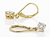 Moissanite 14k Yellow Earrings 1.00ctw DEW.