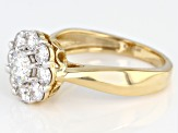 Moissanite 14k Yellow Gold Ring 1.30ctw DEW.