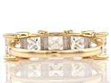 Moissanite 14k yellow gold ring 3.00ctw DEW.