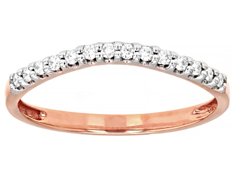 Moissanite And Morganite 14k Rose Gold Ring With Band 1.64ctw DEW.