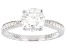 Moissanite 14k White Gold Ring 1.62ctw DEW