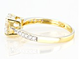 Moissanite 14K Yellow Gold Ring 1.62ctw DEW
