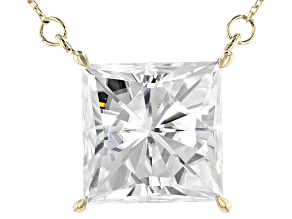 Moissanite 14k Yellow Gold Necklace 10.32ct DEW.