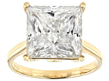 Picture of Moissanite 14k Yellow Gold Ring 8.41ctw DEW.