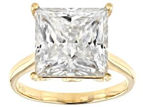 Moissanite 14k Yellow Gold Ring 8.41ctw DEW.