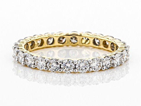 Moissanite 14k Yellow Gold Eternity Band Ring 1.44ctw DEW